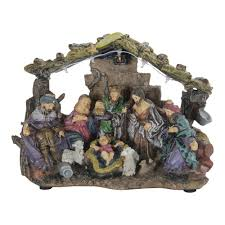 exhart 6 in holiday nativity set garden decor 13904 0 the home