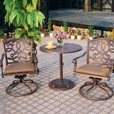 Aluminum Bistro Table And Chairs Bistro Set