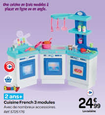 cuisine enfant carrefour carrefour promotion cuisine 3 modules smoby cuisines