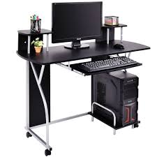 computer desk with cupboard shelves storage for home office 4