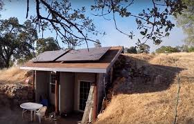 underground tiny house earth cooled shipping container underground california home for