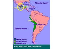 aztec mayan inca map ancient america aztec inca ancient civilizations