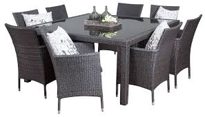 square outdoor dining table wicker outdoor dining sets pacific 8 seater square segals