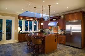 kitchen cork floor wooden kitchen island wooden barstool wooden