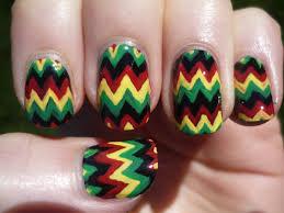 chevron tape nail art tutorial jamaican rasta chevron nail art tutorial youtube