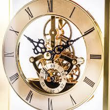 Crystal Mantel Clocks Piano Finish Rosewood And Gold Mantel Clock