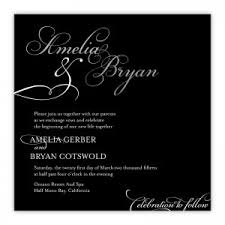 and black wedding invitations free wedding invitations sles