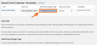 creating an automatic mailing of your events with mailchimp