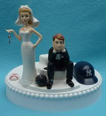 baseball wedding cake toppers new york yankees ny baseball key themed wedding cake topper