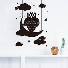 Owl Wall Sticker Online Get Cheap Owl Stars Moon Aliexpress Com Alibaba Group