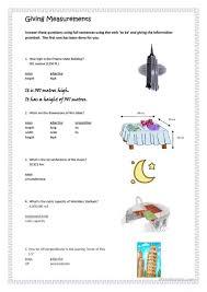 16 free esl measurement worksheets