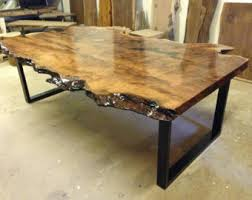 Walnut Slab Table by Live Edge Dining Table Live Edge Table Wood Slab Dining