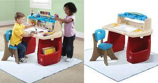 step 2 deluxe art desk kohl s cardholders step2 deluxe art desk with splat mat only 41 99