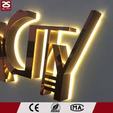 stainless steel led logo backlit led channel sign lighted metal