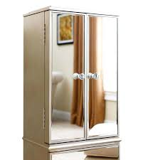 armoire mirrored jewelry armoires over the door with mirror
