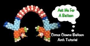 clown balloon balloon arch with clowns balloon decoration tutorial
