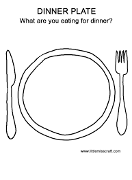 Plate Coloring Page Draw A Dinner Plat Colouring Pages Vitlt Com Plate Coloring Page