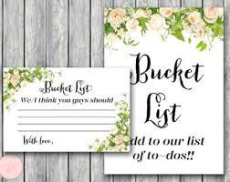 wedding wishes list marriage list etsy