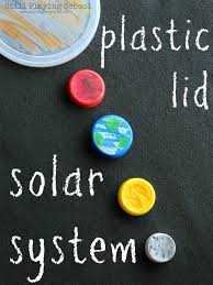 plastic lid planets solar system earth craft and solar