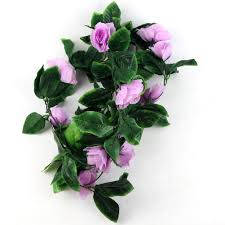 Artificial Flowers For Home Decoration 8ft Artificial Fake Silk Rose Flower Ivy Vine Hanging Garland