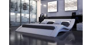 Leather Platform Bed Modern Leather White Platform Bed