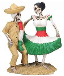 mexican day of the dead skulls wedding cake topper wedding