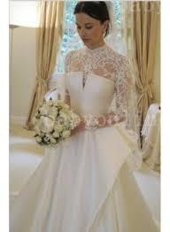 2017 vintage wedding dresses high neck full lace open back a
