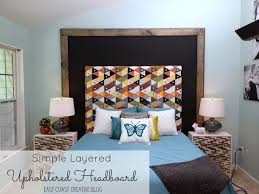 how do you make an upholstered headboard layered upholstered headboard knock it off diy project east