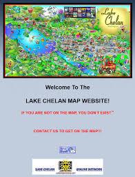 Chelan Washington Map by Not Ken Bradley
