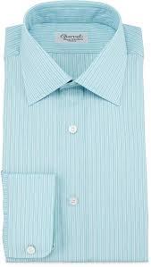 charvet striped barrel cuff dress shirt greenblue where to buy