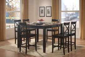 black finish modern counter height dining table w options