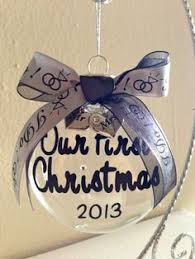 our first christmas married ornament wedding photo personalized