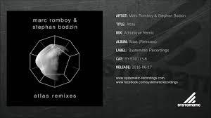 atlas k che marc romboy stephan bodzin atlas adriatique remix syst0113