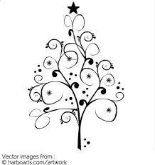 swirly x tree vector graphic
