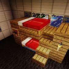 Minecraft How To Make A Bunk Bed Minecraft Bunkbeds If You Like This Picture Click On It To Take