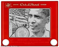 the etch a sketch president artist uses toy to draw famous faces