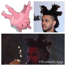 The Weeknd Hair Meme - anyone think the weeknd is slowly turning into the pokemon corsola