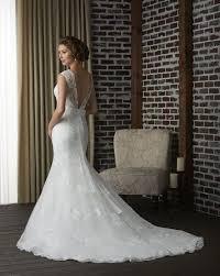robe mariã e sur mesure dos nu dentelle sirène robe de mariage nuptiale en queue de