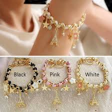 star chain bracelet images Fashion jewelry multielement gold chain leather rope crystal jpg