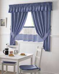 blue and white gingham kitchen curtains pelmet u0026 24 u201d cafe panel 3