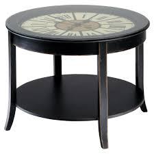 Clock Coffee Table Wooden Clock Coffee Table In Black W On Howard Miller Table Clocks