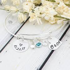sterling silver wedding gifts sterling silver wedding date bracelet wedding gift for