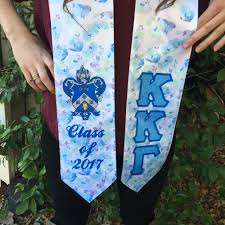 sorority graduation stoles sorority class of 2018 floral satin graduation stole cus