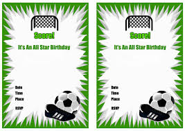 soccer party ideas free printable soccer birthday party invitations home party ideas
