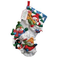 bucilla stocking kits for christmas cross stitch and needle