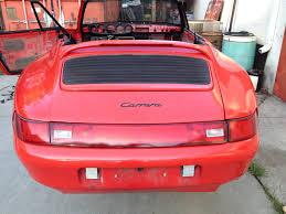pink porsche convertible 1995 porsche 911 993 convertible chassis body complete part out