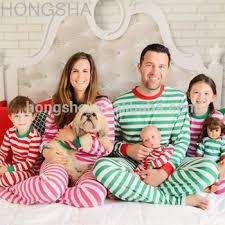 winter pajamas striped matching family pajamas hss1411