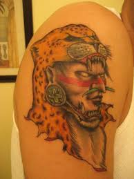 indian warrior in a helmet from head leopard tattoo tattooimages biz