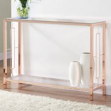 Athena Rose Gold Console Table Free Shipping Today Overstock Com