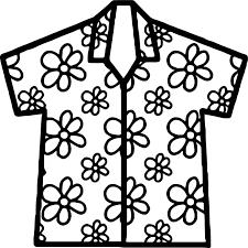 hawaiian shirt coloring page wecoloringpage